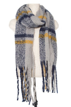 Load image into Gallery viewer, Soft plaid pattern oblong scarf