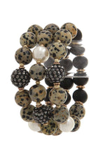 Load image into Gallery viewer, Semi precious stone bead stretch bracelet