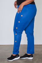 Load image into Gallery viewer, Ladies fashion plus size side metal grommet embellished pants
