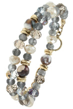 Load image into Gallery viewer, Multi semi precious stone beads bracelet
