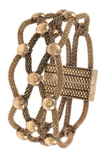 Load image into Gallery viewer, Woven ball bead accent mesh bracelet