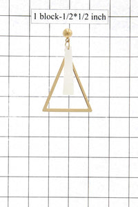 Triangle metal earring