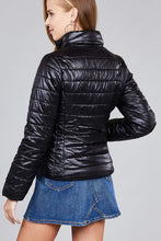 Load image into Gallery viewer, Ladies fashion plus size long sleeve quilted padding jacket