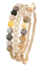 Load image into Gallery viewer, Semi precious bead bracelet set