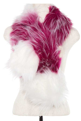 Faux fur two tone neck wrap