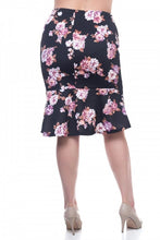 Load image into Gallery viewer, Floral mermaid skirt