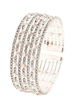Load image into Gallery viewer, Rhinestone And Pearl Accent Flex Bracelet