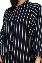 Load image into Gallery viewer, Stripe Snap Button Down Shirt