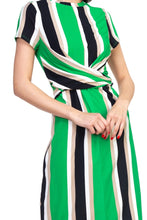 Load image into Gallery viewer, Stripe Twist Front Dress