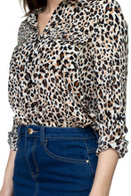 Load image into Gallery viewer, Cheetah Print Double Pocket Shirt
