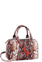 Load image into Gallery viewer, Trendy Setter Cute Python Pattern Boston Bag With Long Strap