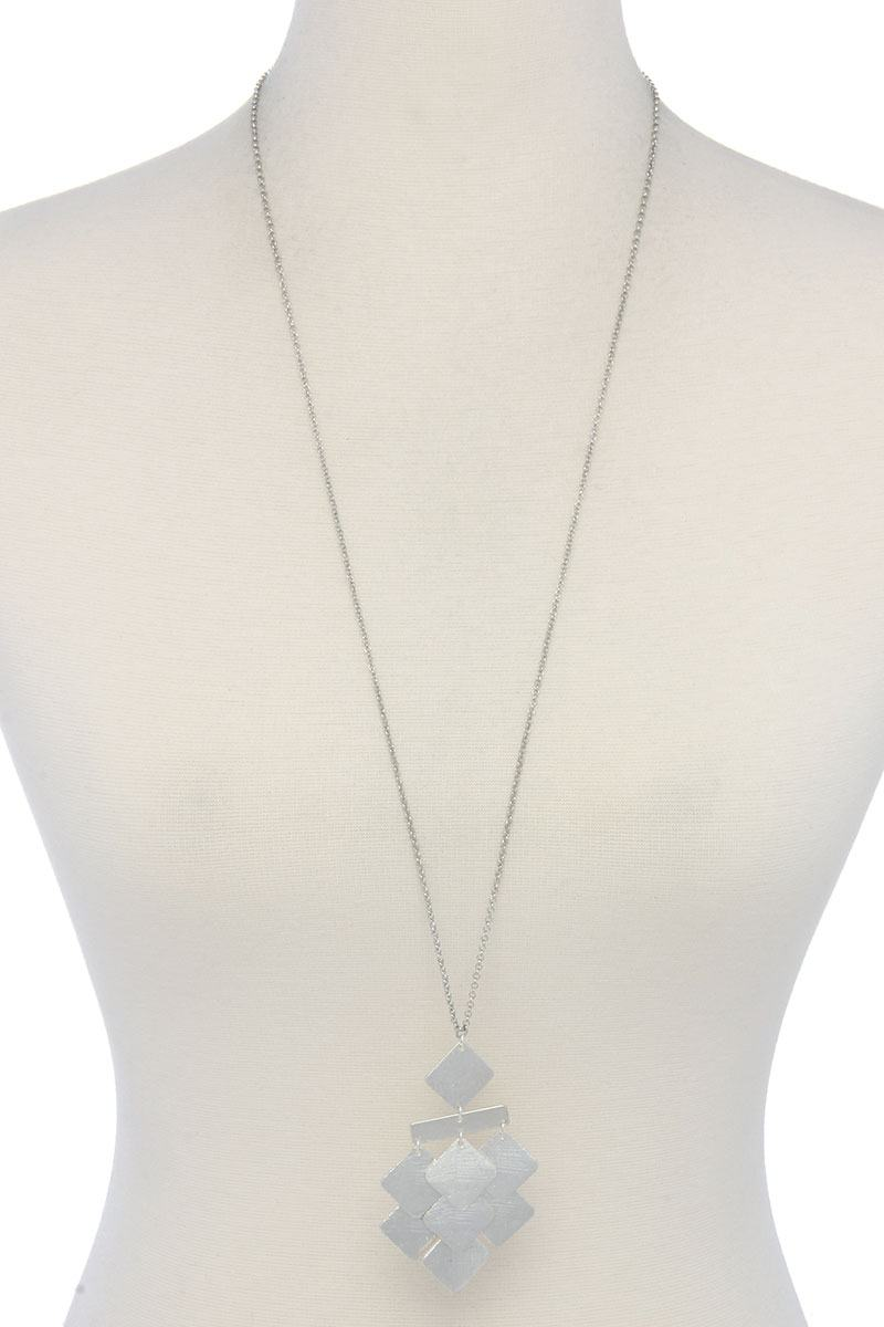 Geometric Shape Pendant Long Necklace