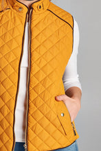Load image into Gallery viewer, Quilted Padding Vest With Suede Piping Details