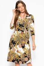 Load image into Gallery viewer, Belted Waist 3/4 Sleeve Dress