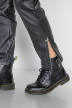 Load image into Gallery viewer, Black Vegan Leather Stretchy Overall Pants