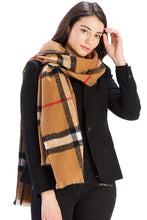 Load image into Gallery viewer, Checker Plaid Pattern Scarf