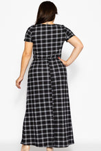Load image into Gallery viewer, Plaid, Ankle Length Maxi Dress