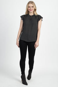Geo Print Front Key Hole Top