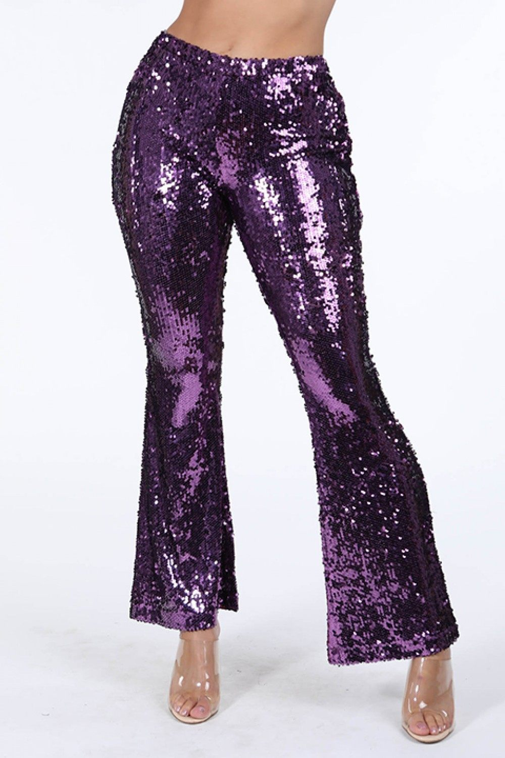Sequined Flare Pants