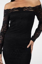 Load image into Gallery viewer, Floral Lace Off Shoulder Dress