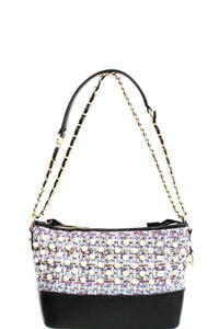 Fashion Multi Pearl Modern Crossbody Bag