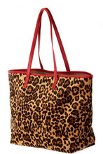 Load image into Gallery viewer, 2in1 Designer Trendy Leopard Suede Shopper Bag