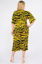 Load image into Gallery viewer, Multi Color Zebra Print Short Sleeve Jumpsuit