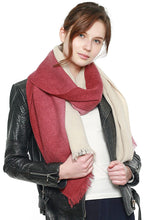 Load image into Gallery viewer, Two Tone Gradation Scarf