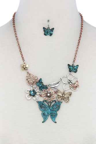 Metal Butterfly Necklace