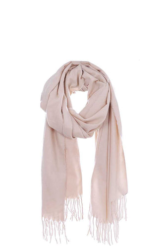 Solid Color Modern Fringe Scarf