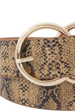 Load image into Gallery viewer, Hot Trendy Python Pattern Double Ring Buckle Belt