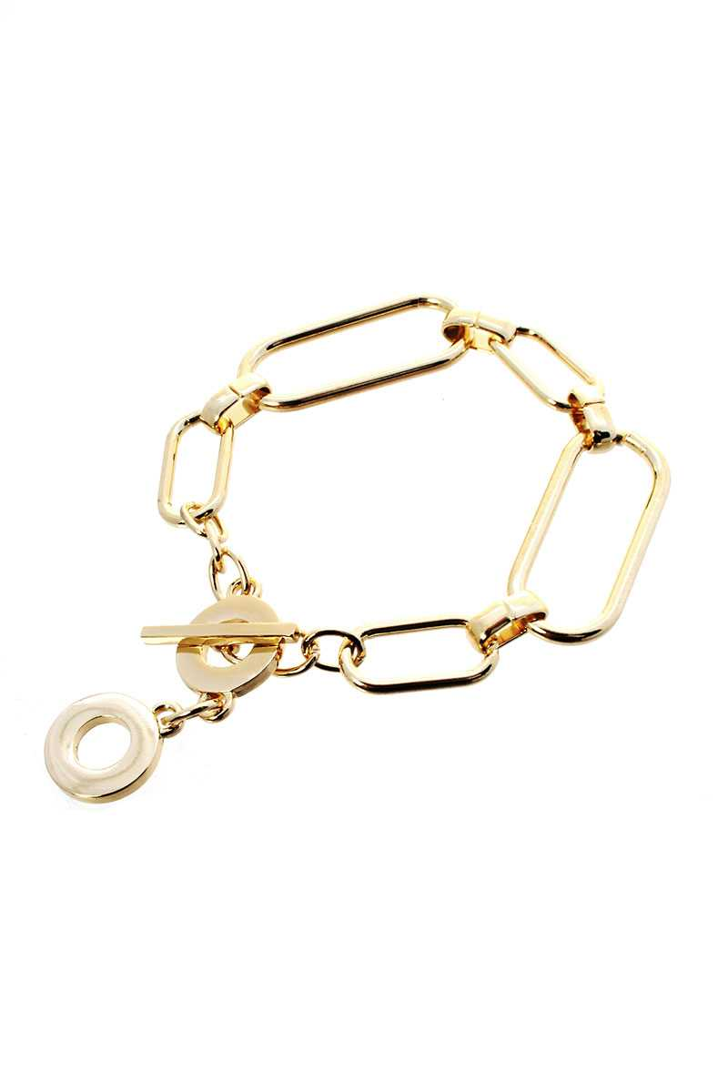 Metal Chain Toggle Clasp Bracelet