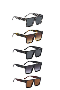 Contemporary Designer Tall Square Polymer Frame Womens Shades Sunglasses