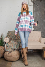Load image into Gallery viewer, Ombre Dye Terry Knit Banded Bottom Pullover
