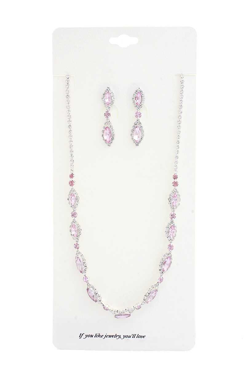 Elegant Marquise Rhinestone Loop Necklace