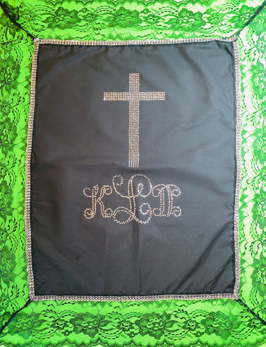 Bling Lapskirt with Rhinestone Monogram