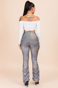 Holographic Scrunched Pants