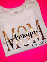 Load image into Gallery viewer, Mom Shirt with Child's name