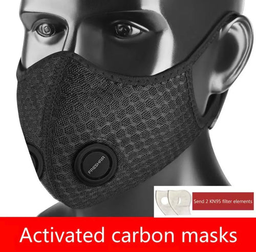 Black Activated Carbon Mask w/ Valve