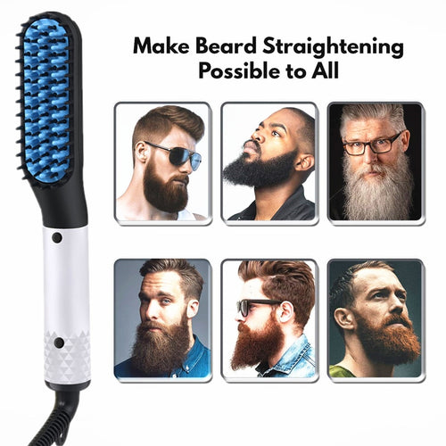 2 IN 1 Men's Beard Straightener Brush