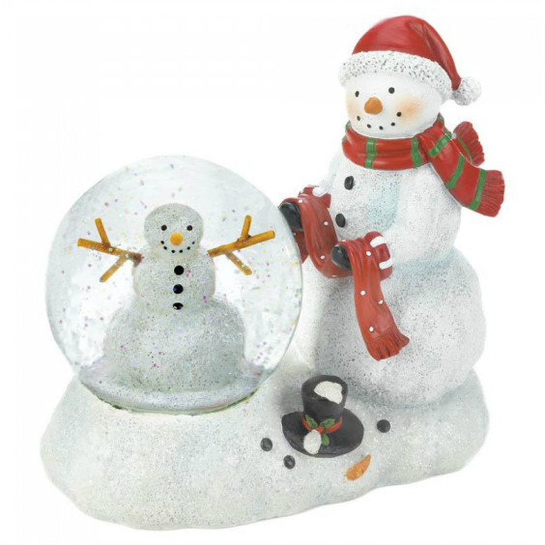 Color-Changing LED Snowman Snow Globe Figurine