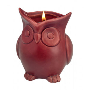 Ceramic Owl Scented Candle