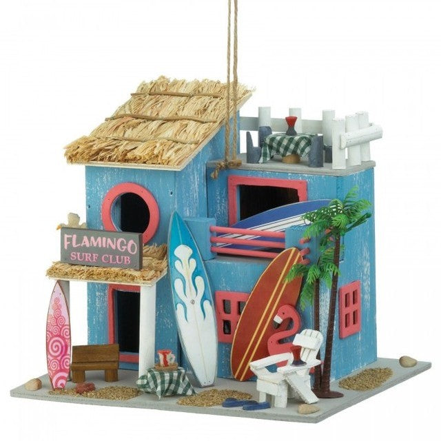 Flamingo Surf Club Bird House
