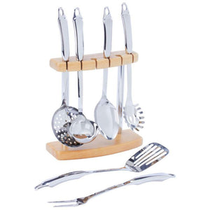 Kitchen Utensil Set-Stainless Steel With Stand