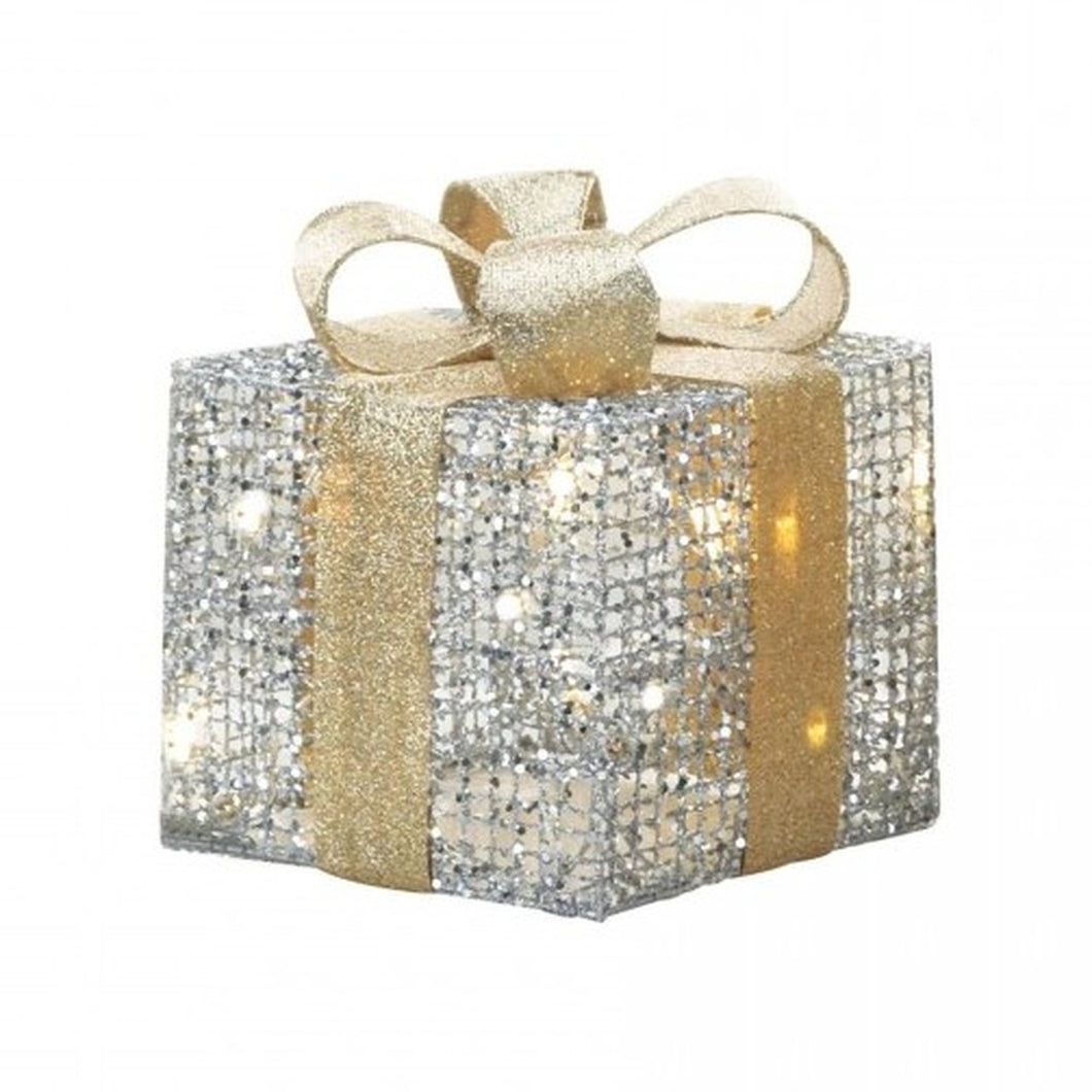 Light-Up Gift Box Decor - 9 inches