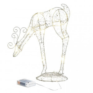 Light-Up Leaning Down Reindeer Decor - 14 inches