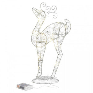 Light-Up Looking Up Reindeer Decor - 17 inches