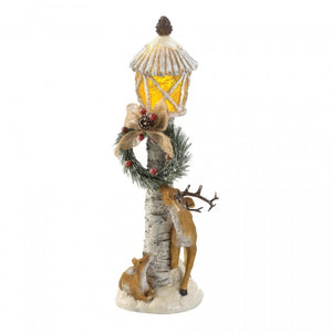Reindeer Light-Up Light Post Figurine