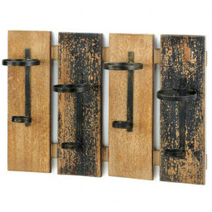 Rustic-Style Wood Slat Wine Rack