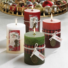 Load image into Gallery viewer, Scented Pillar Candle - Holiday